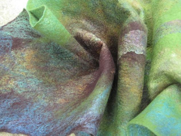 мастер-класс по валянию, войлочный шарф, материалы для валяния