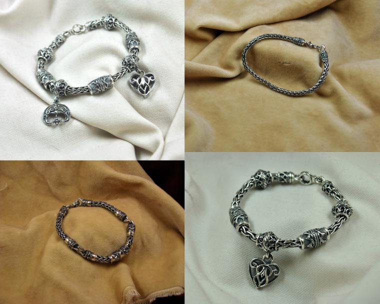 цепи, серебряные украшения, цепь