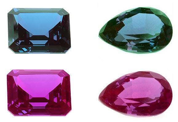 имитация камня, аналоги александрита, выращенный александрит, лабораторный александрит, александрит