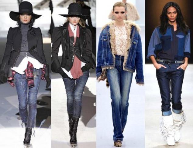 Модные джинсы 2012 - фото В цветовой гамме модных джинсов 2012