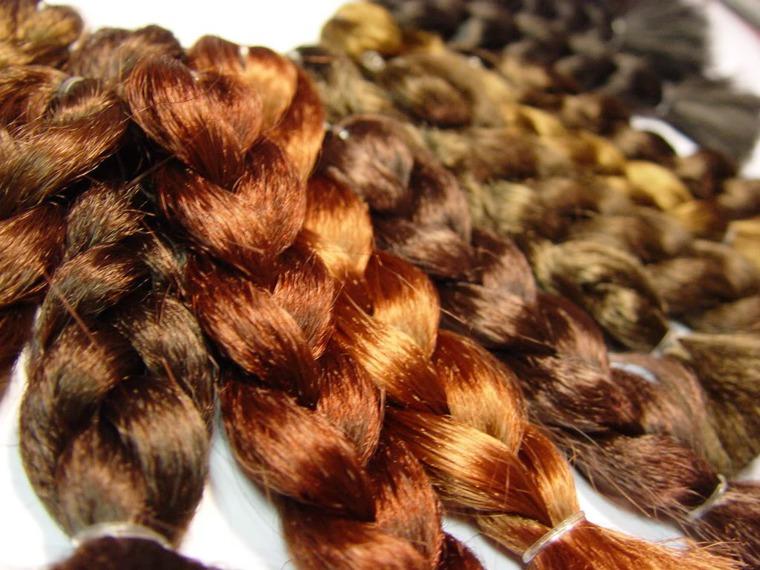 трессы натуральные, парик для кукол