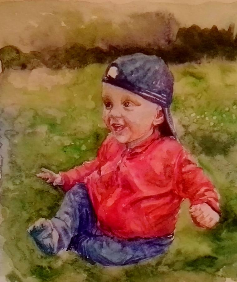 портрет ребенка по фото, портрет девочки заказать