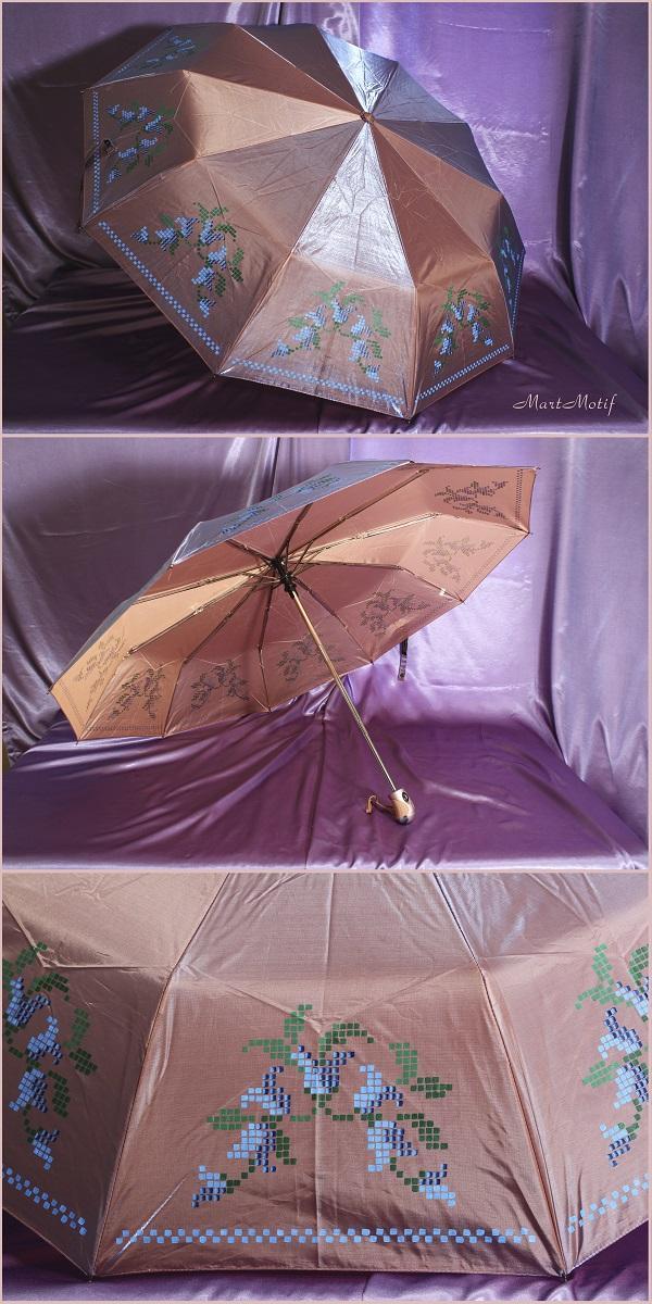 зонт, вышивка