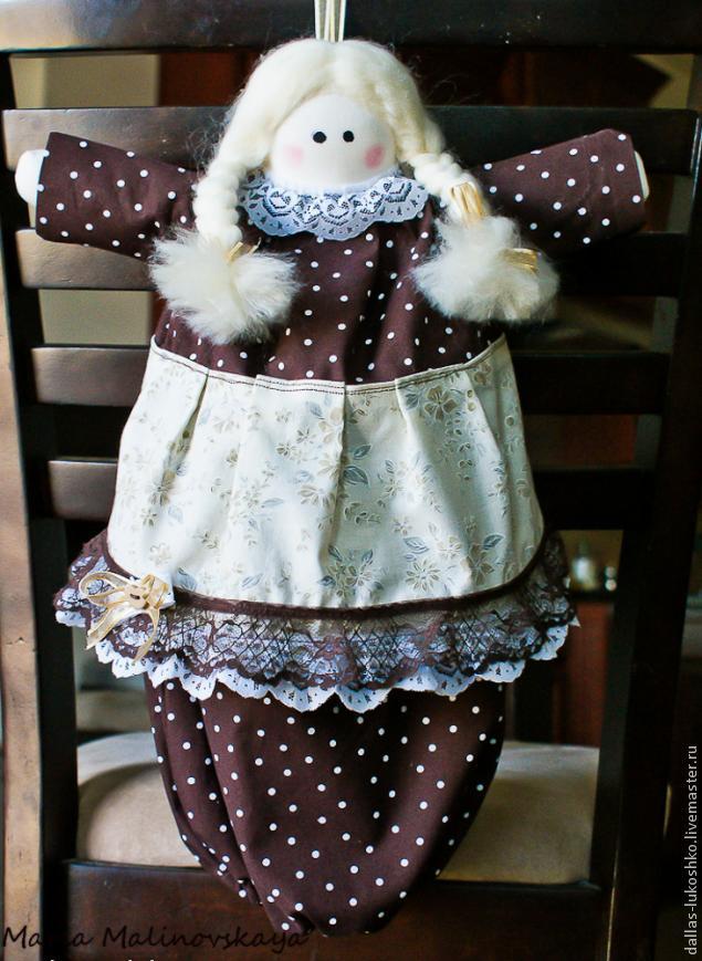 Кукла пакетница своими руками фото