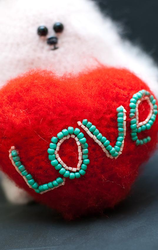 вязание, сердечко, нежность