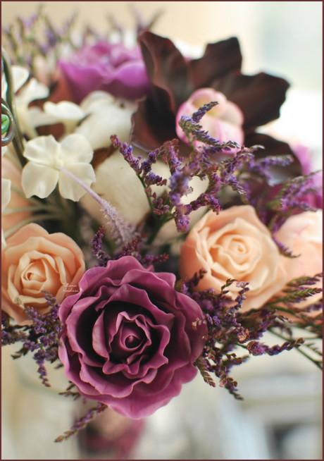 свадебный букет, орхидеи