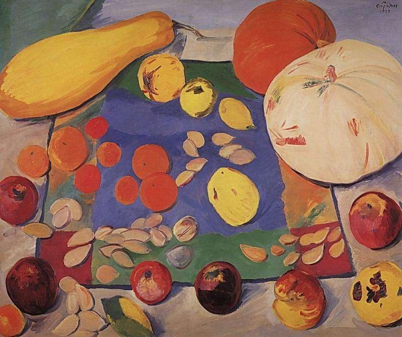 1934 Фрукты и овощи. Натюрморт. ЧС - Сарьян Мартирос Сергеевич