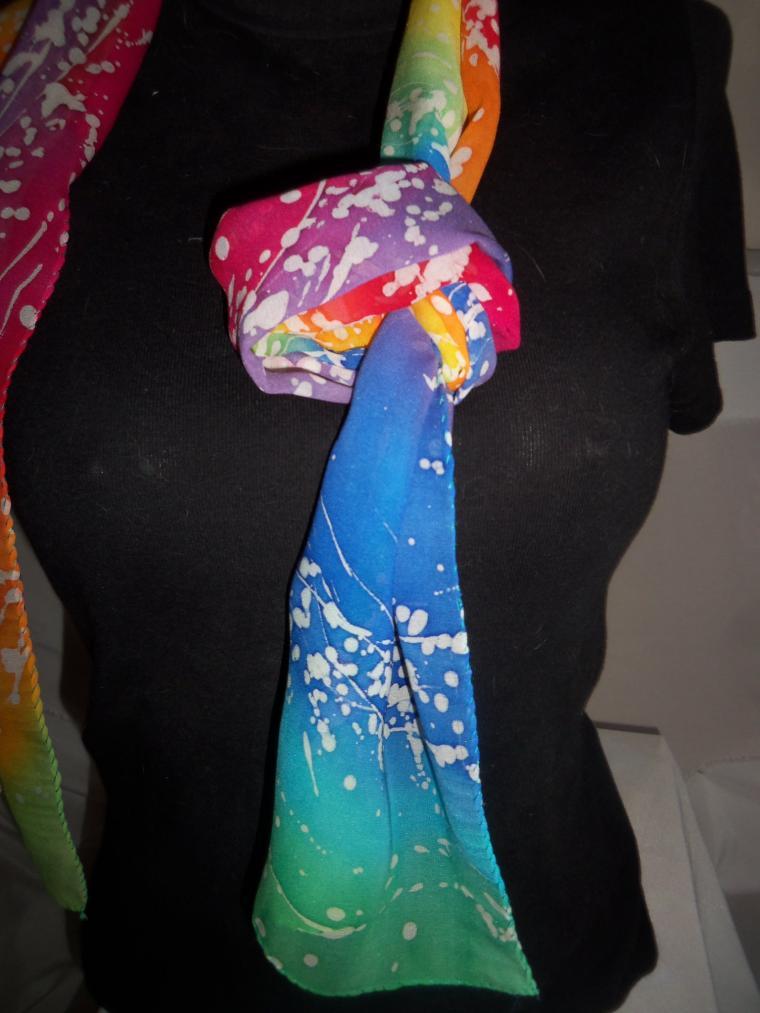 батик, шёлковый шарф, женская одежда