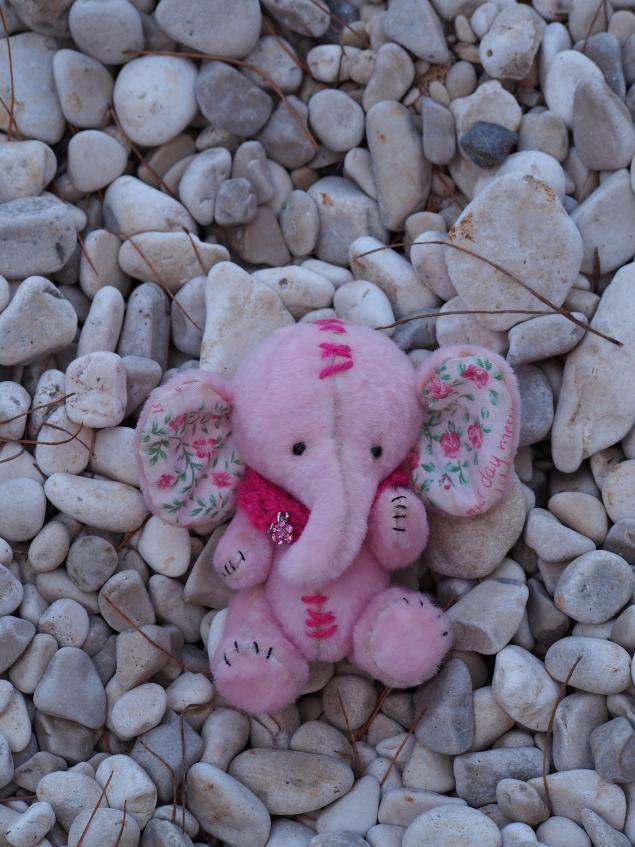 подарок, розыгрыш, слоник, розовый