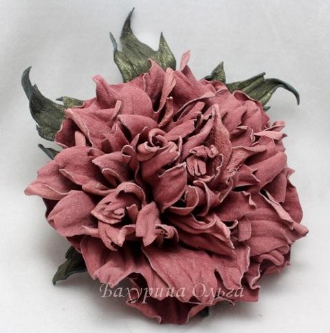 кожаная флористика, цветок, мастер-класс, пионы