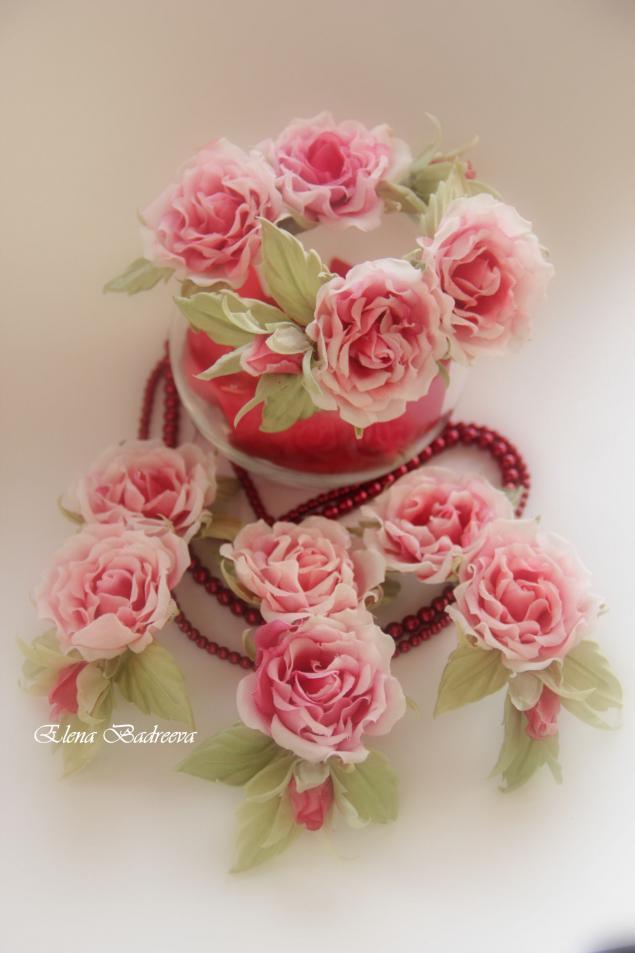 цветы из шелка, флористика, брошь из ткани