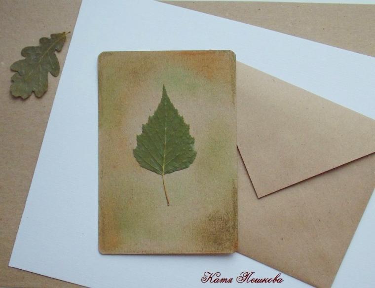 флористическая открытка