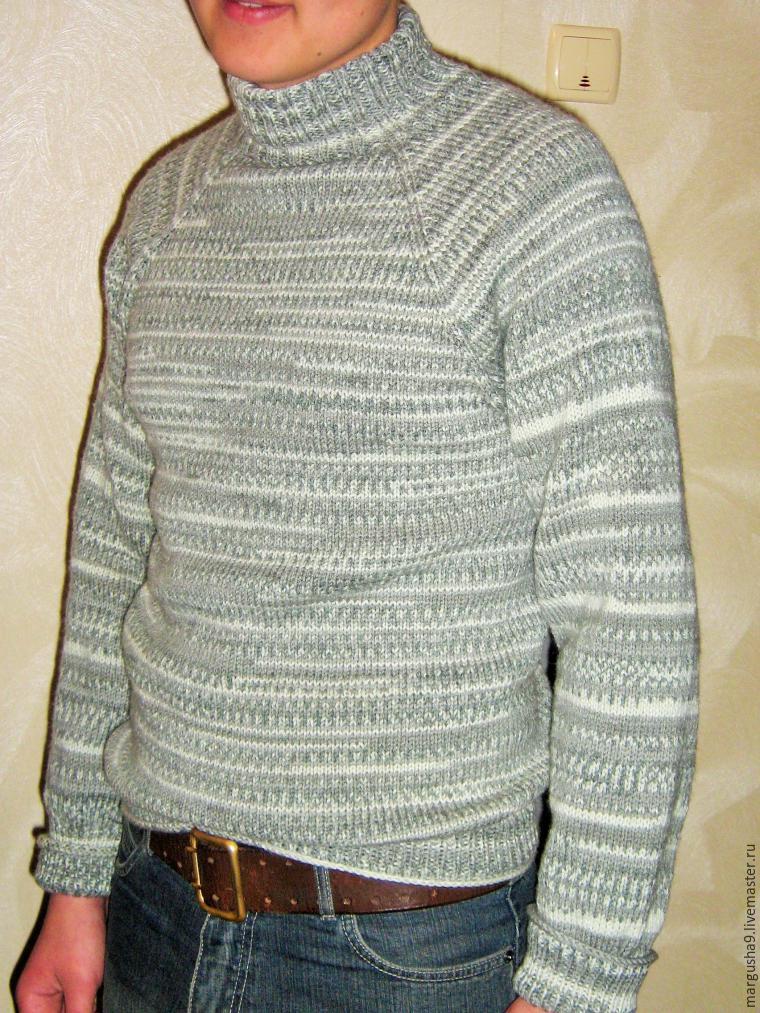 как вязать свитер с рукавами реглан сверху вниз мастер класс для