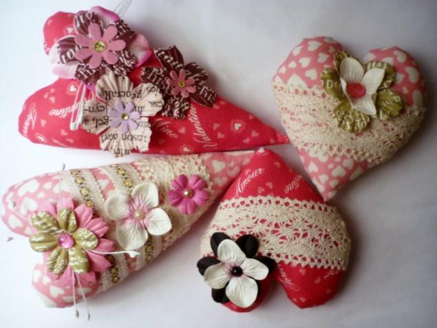 текстильное сердечко