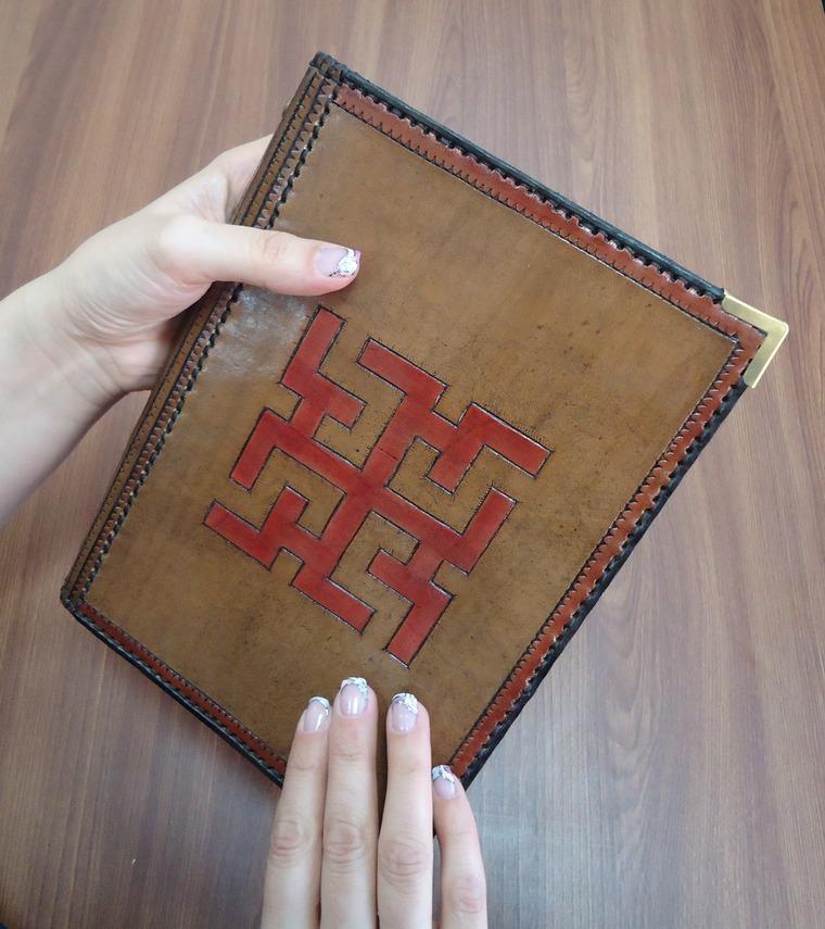 блокноты ручной работы, коричневый, духобор