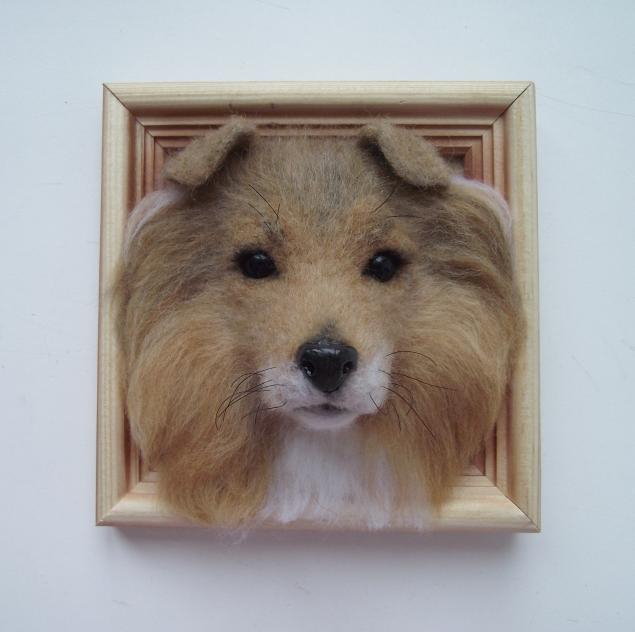 собака из шерсти