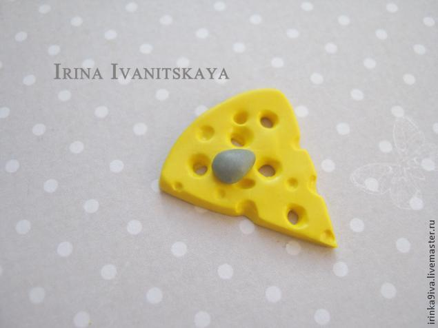 DIY Cheese Earrings of Polymer Clay, фото № 10