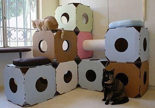 旧物改造的创意(七)废纸板箱的创意 - maomao - 我随心动