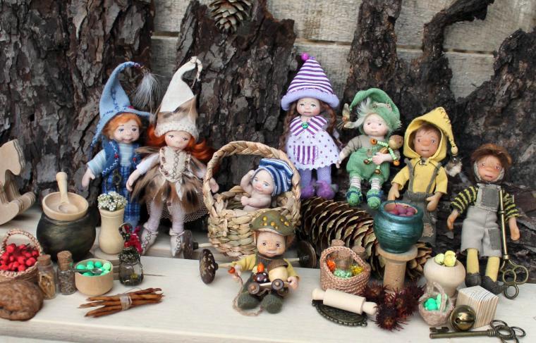 гномик, кукольный дом, кукольная миниатюра, dollhouse