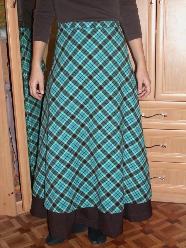 Выкройки теплой юбки