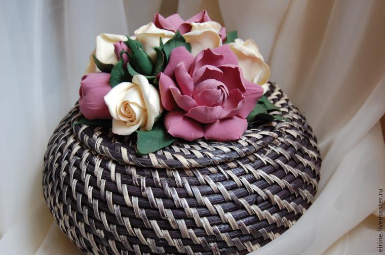мк, цветы из глины