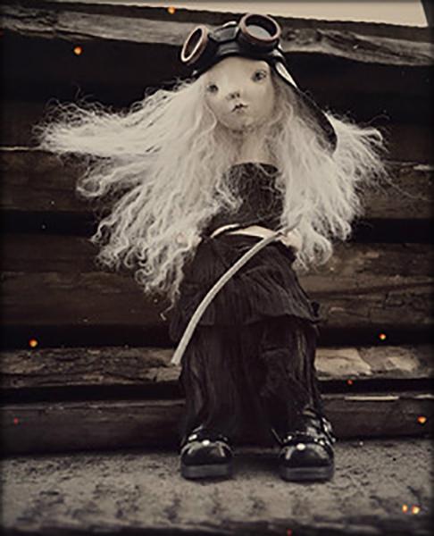 кожаный шлем, для кукол