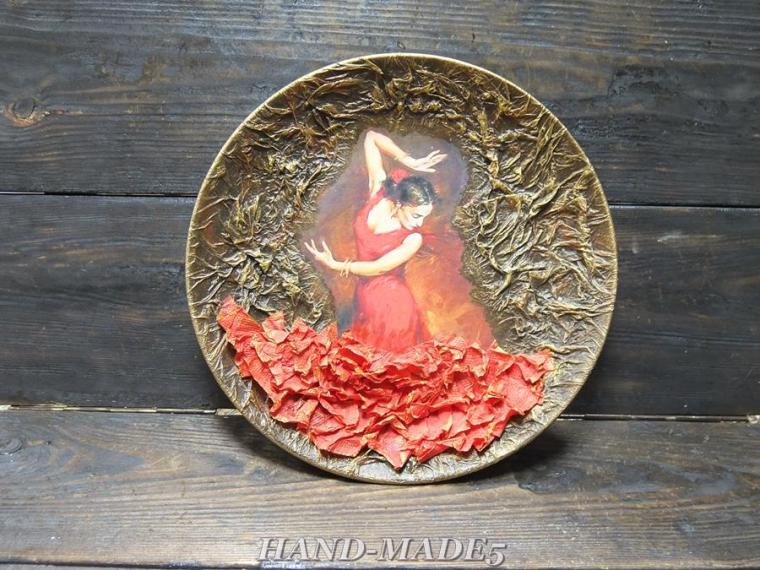 Мастер класс декупаж по тарелочкам - Вязание, вязание спицами, вязание крючком, Схемы