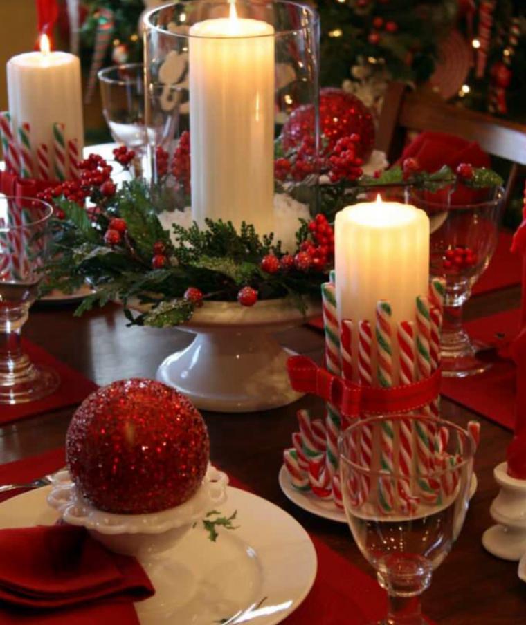 Оформление новогоднего стола фото своими руками
