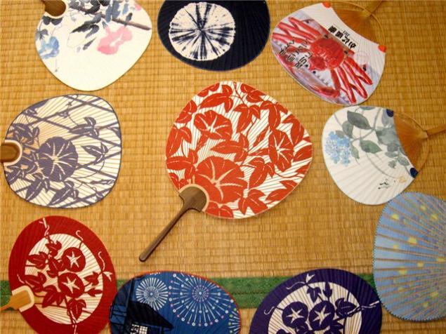 японский стиль, бамбуковый веер