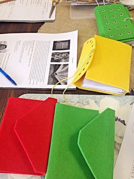 обучение, мастер-класс, творческая мастерская, блокнот с нуля, блокнот ручной работы, блокнот, записная книжка, подарок, фетр