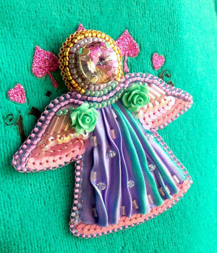 конфетка, ангел, ангел брошь, день святого валентина, подарок