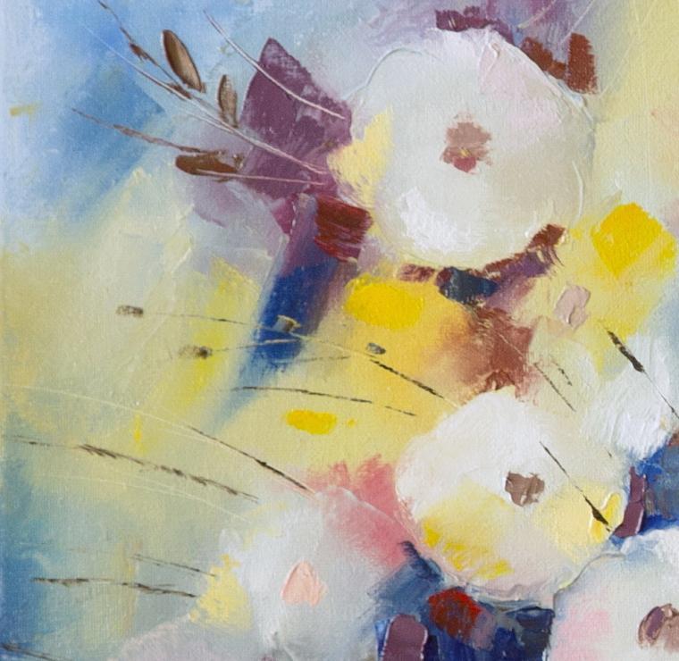 лучший подарок, масляная живопись, цветы