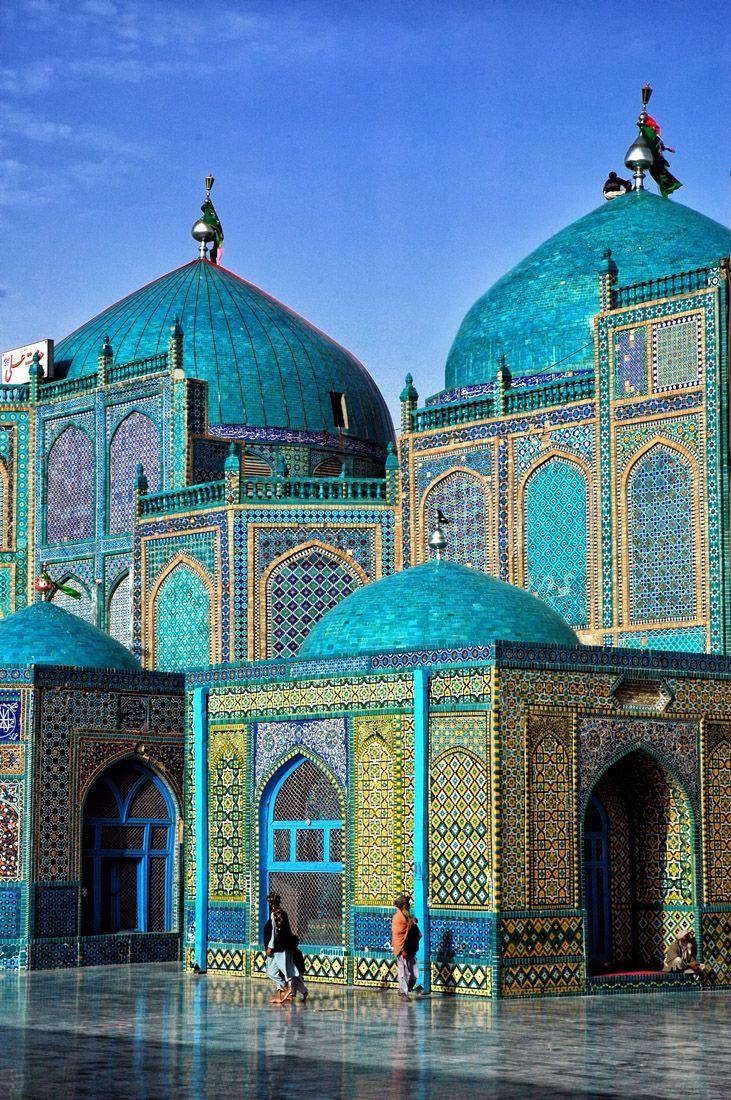 Blue Mosque in Mazar-eSharif, Afghanistan. #travel