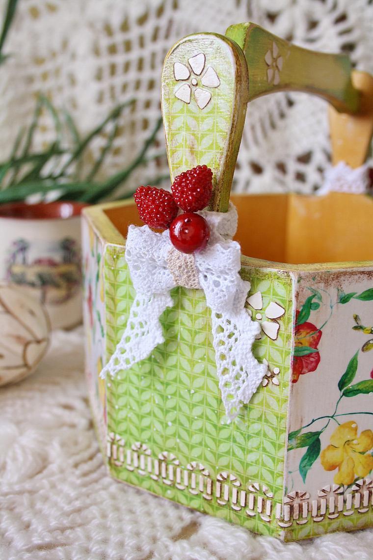 декорирование, декор мебели, огород, цветочный, лукошко идей, декупажные карты, полезные советы, урок рисования, яркие краски