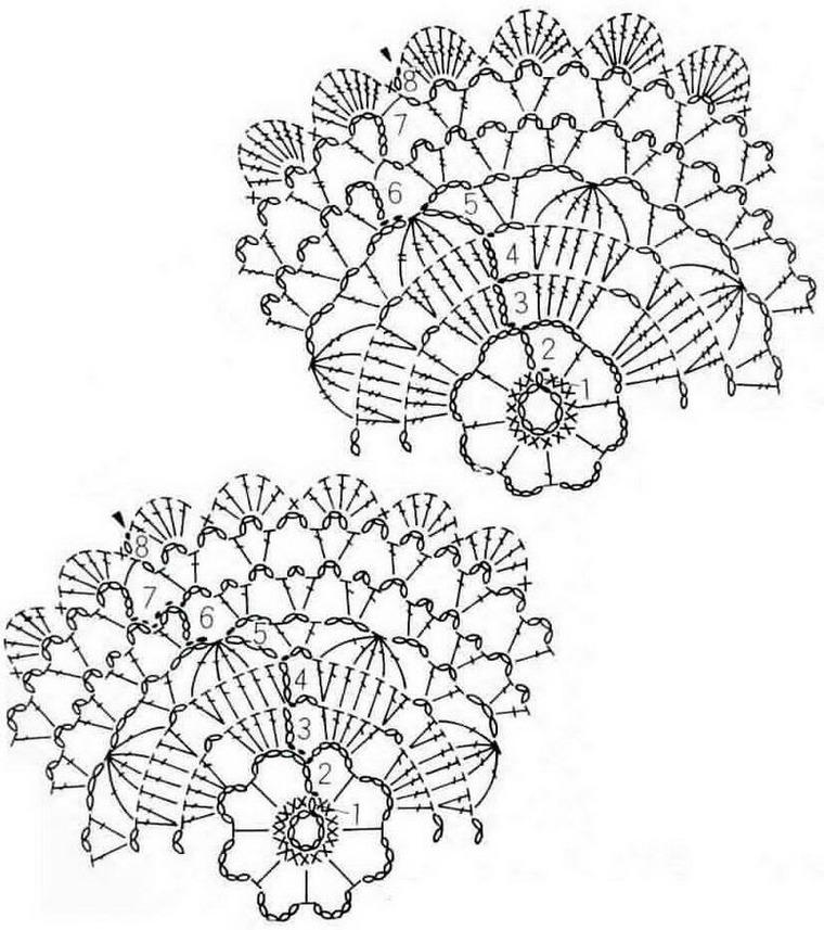 Салфетки крючком вязание схемой 3