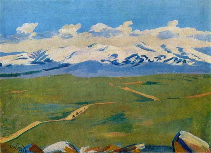 1923 Арагац в облаках. ГКГА, Ереван - Сарьян Мартирос Сергеевич