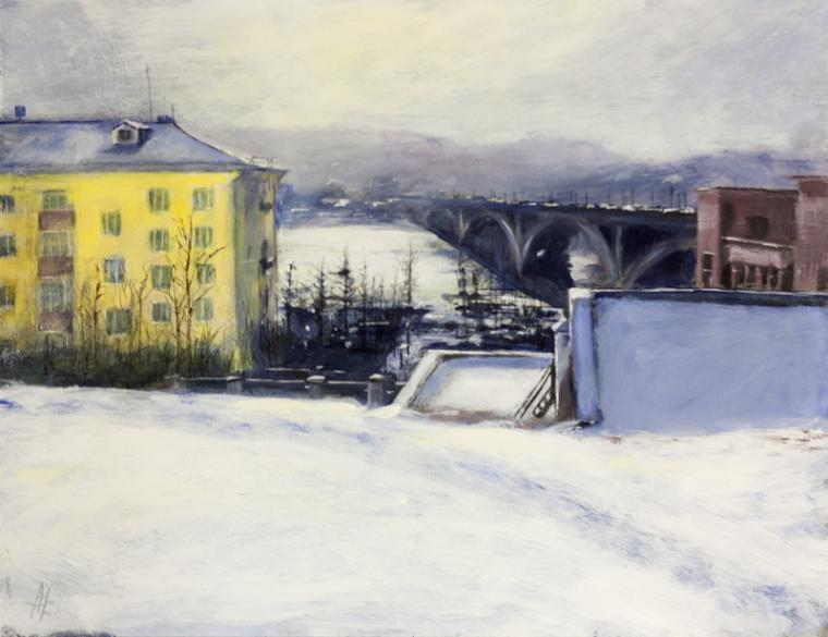картина, новинка, живопись, город, красноярск