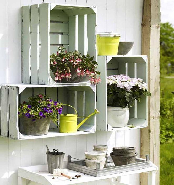 Украсьте сад с деревянные ящики хранения! 20 идеи...- tie-br.