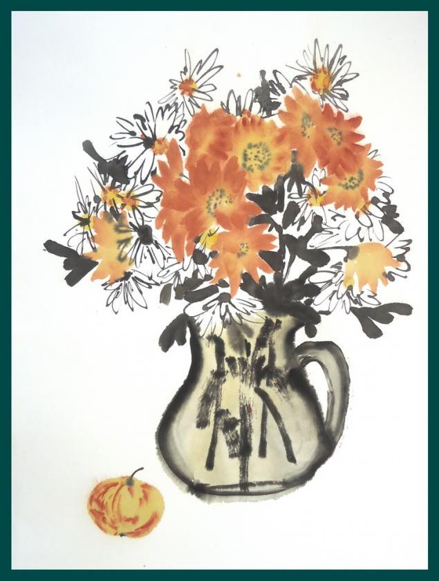 обучение живописи, арттренинги, осень, картина