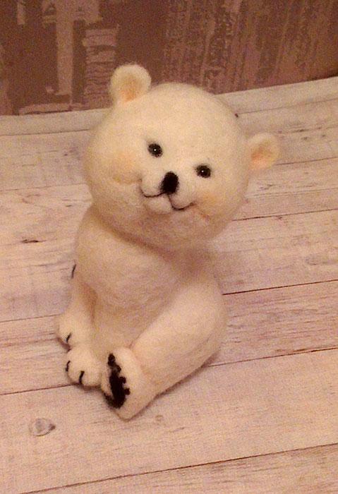 занятие, игрушка, медвежонок, валяние из шерсти