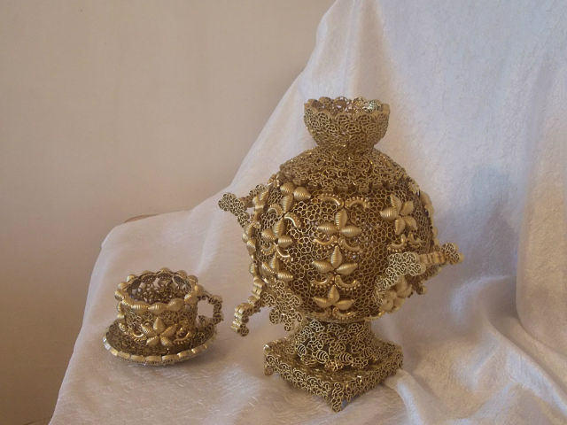 Фото поделки из макарон своими руками