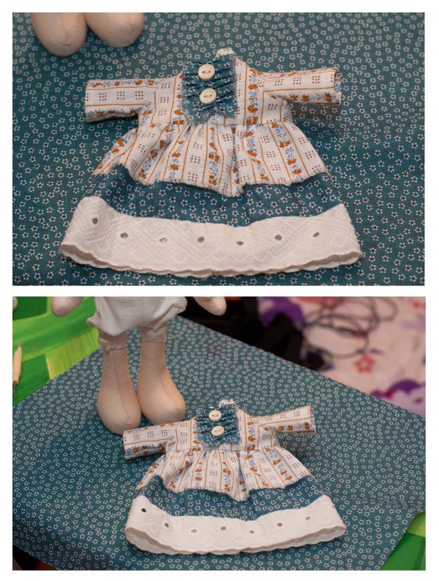 Как сшить платье на куклу снежку