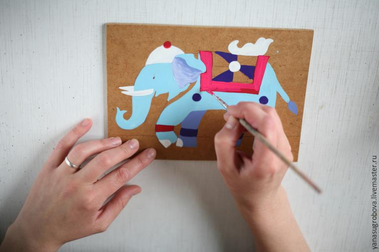 How to Make a Beaded Mosaic with an Indian Elephant with Kids, фото № 4