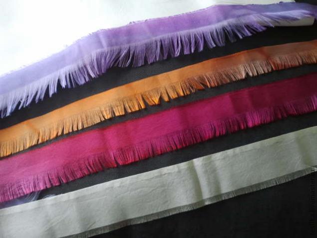 подшив шелкового платка
