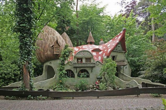 лес, сказочный домик