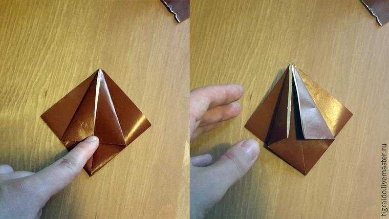 Оригами: пасхальная курочка, фото № 5