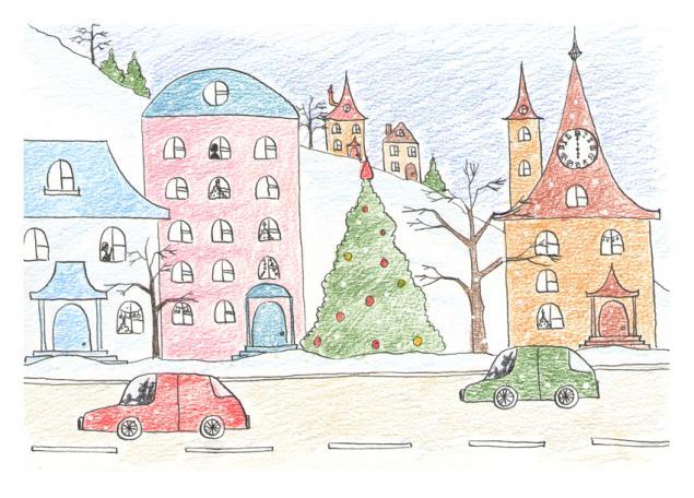 розыгрыш, конфетка, открытка, открытка в подарок, новогодняя открытка, авторская открытка, новый год