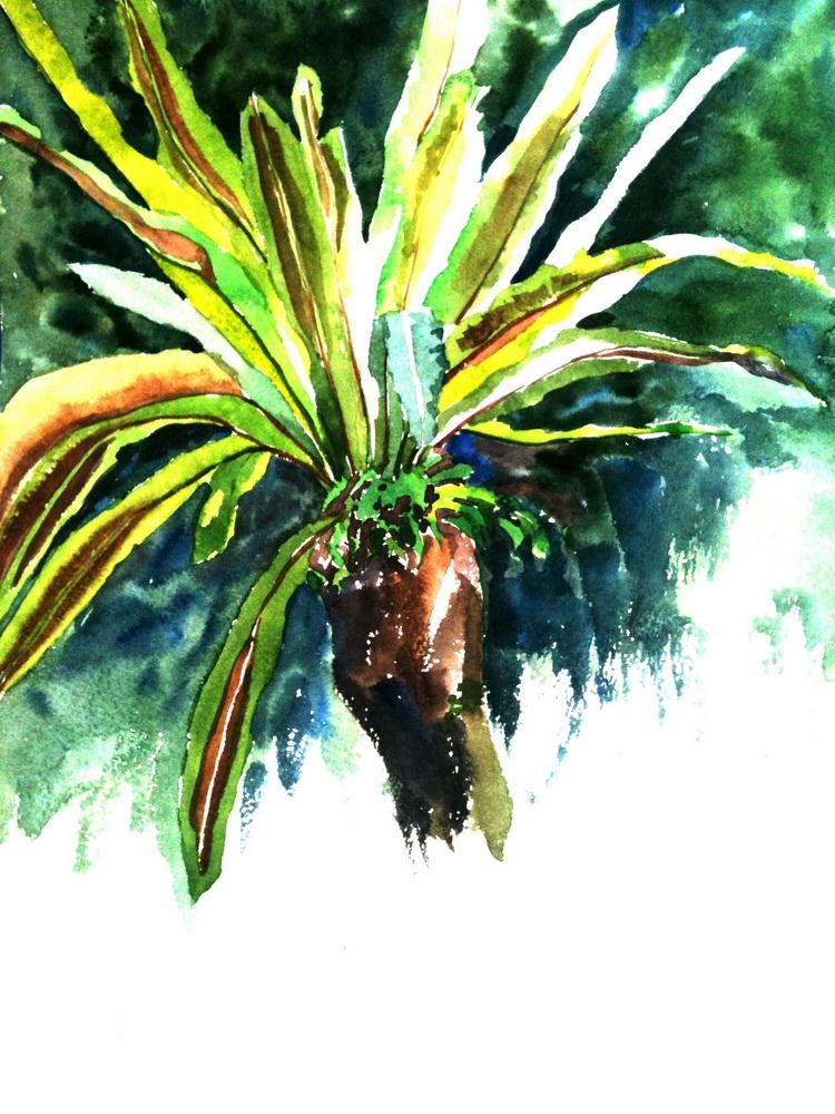натали котова, живопись, пальмы, солнце
