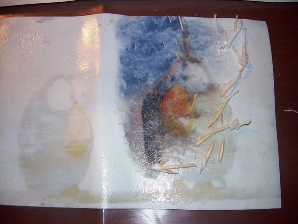 Скатывание бумажного слоя