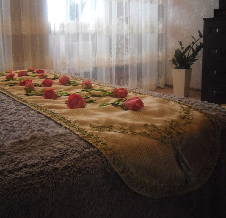 вышитые украшения, как вышить розу